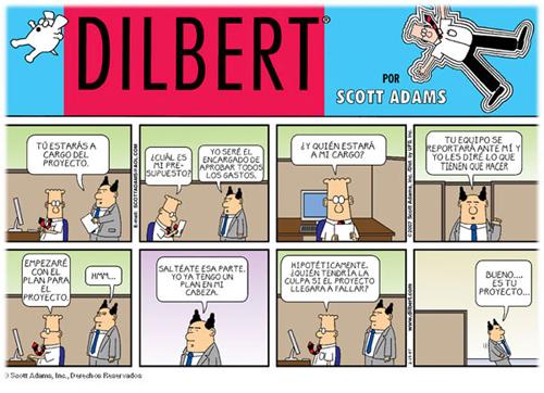 Dilbert delegar