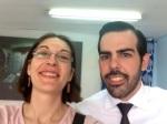 Paloma Peña y Francisco Javier Cebollero el pasado viernes.