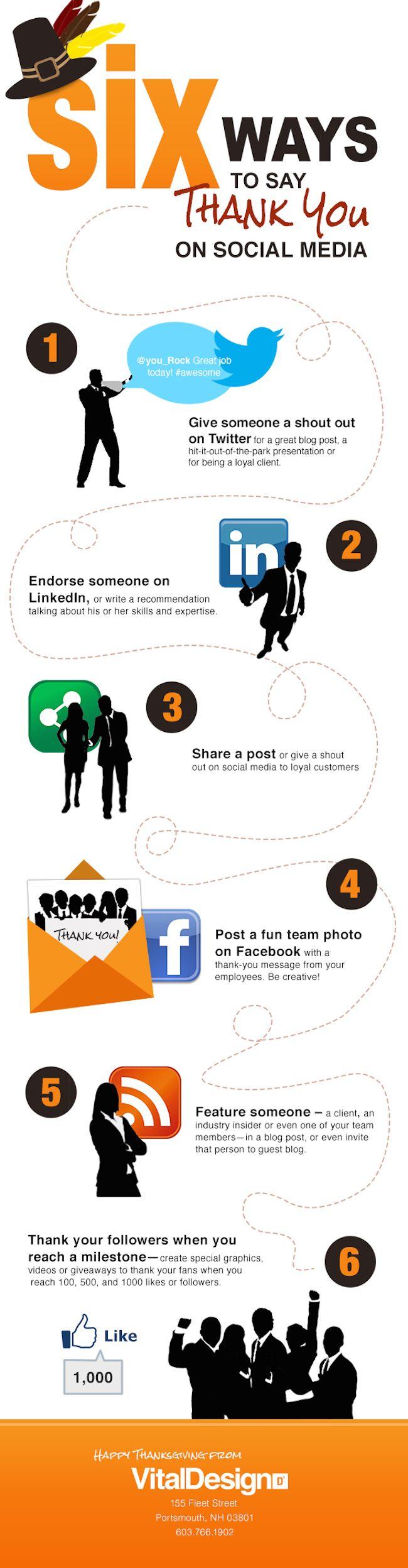 Dar las gracias en Redes Sociales
