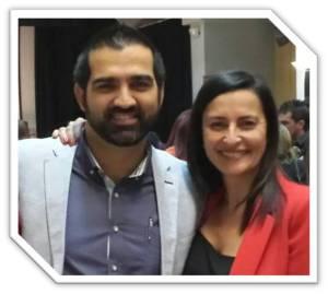 Eva Collado e Iñaki González