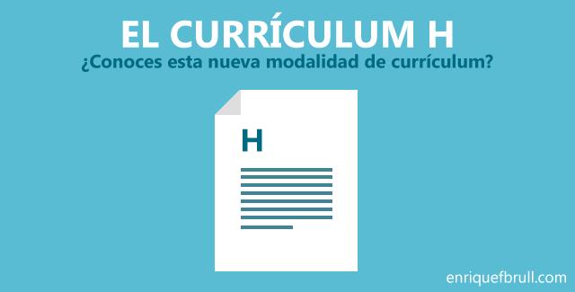 El Currículum H, el curriculum vitae conH-alma.