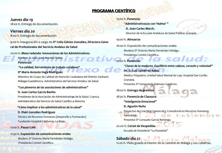 Programa científico ASANDAS 2015
