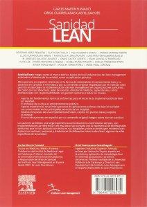 Sanidad Lean, contraportada