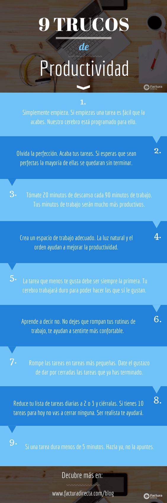 9 trucos para mejorar tu productividad