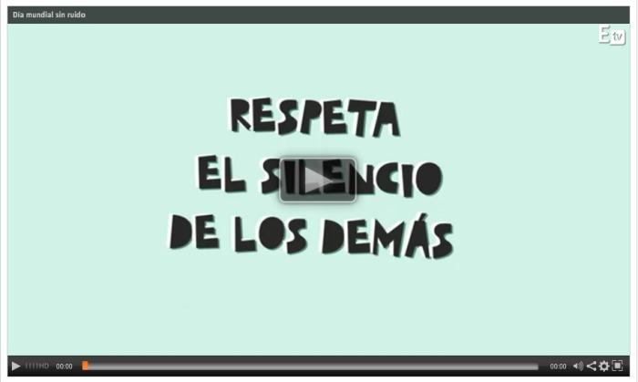"""Vídeo """"Respeta el silencio de los demás"""" #SanidadSINruido"""