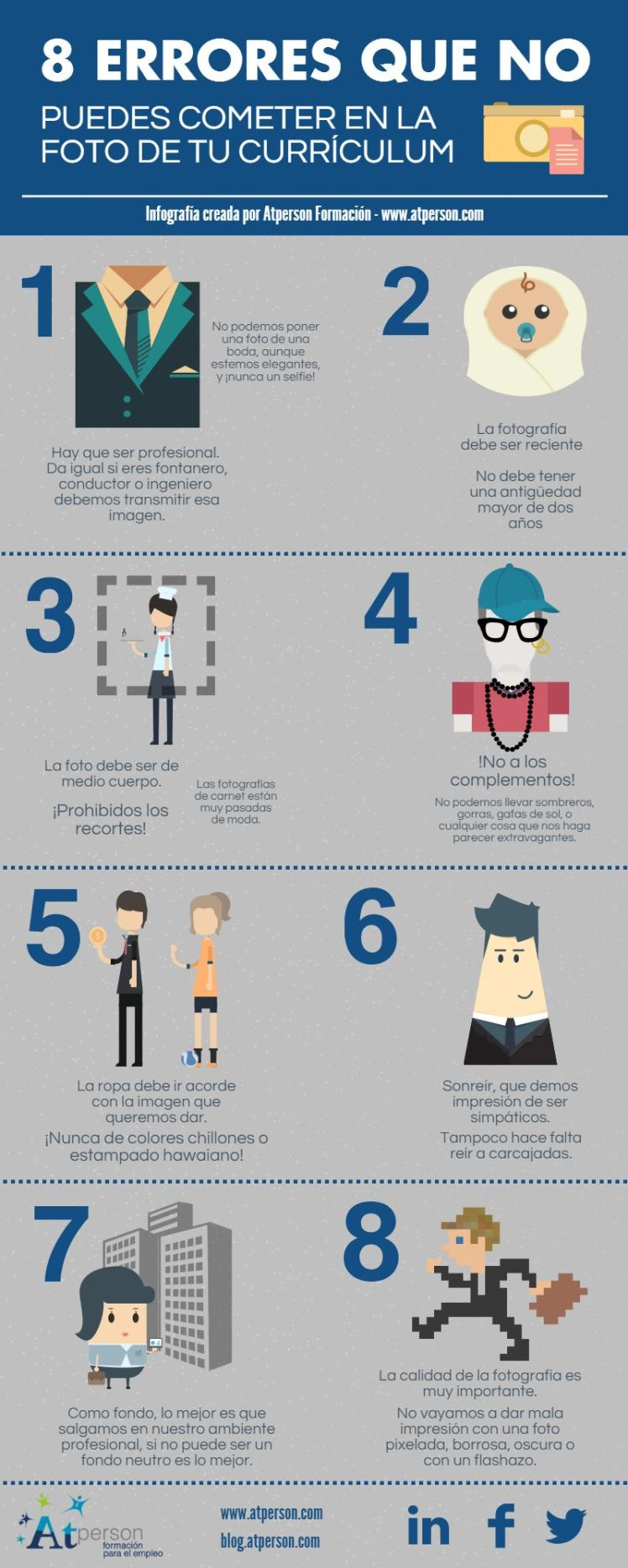 Cuestiones a evitar con la foto de tu CV