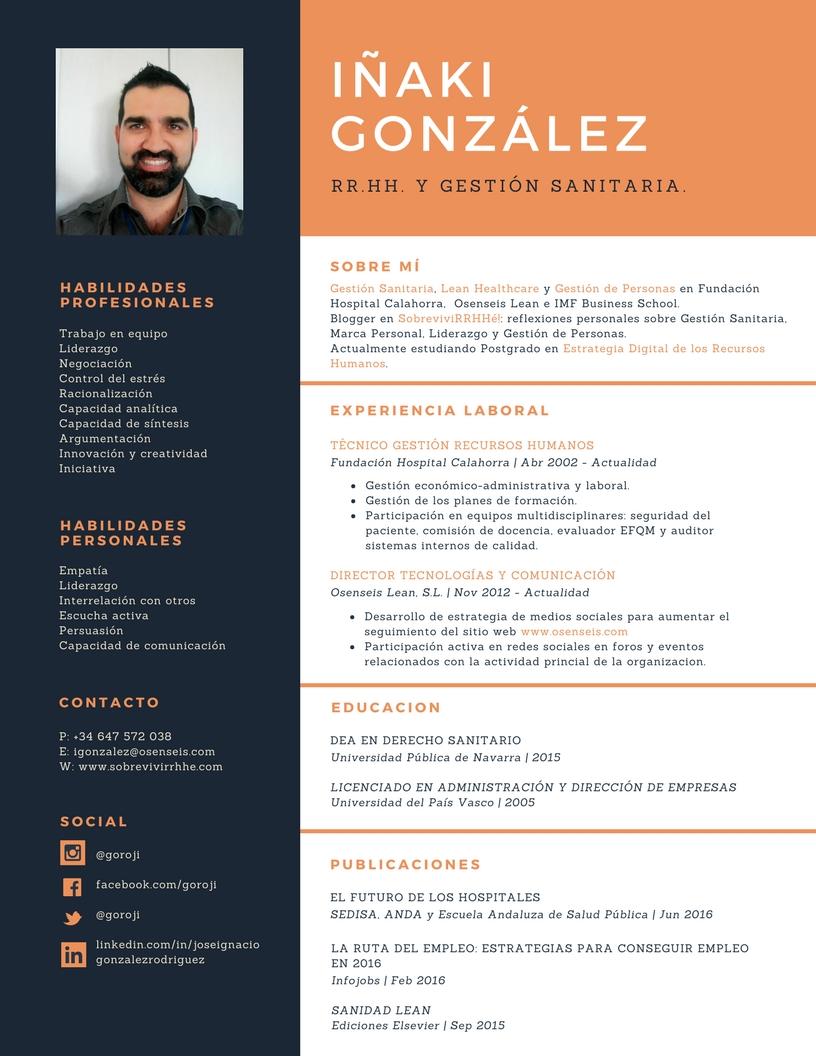 Cómo crear tu propio CV con Canva. – El Blog de Iñaki González