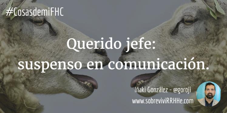 suspenso en comunicación