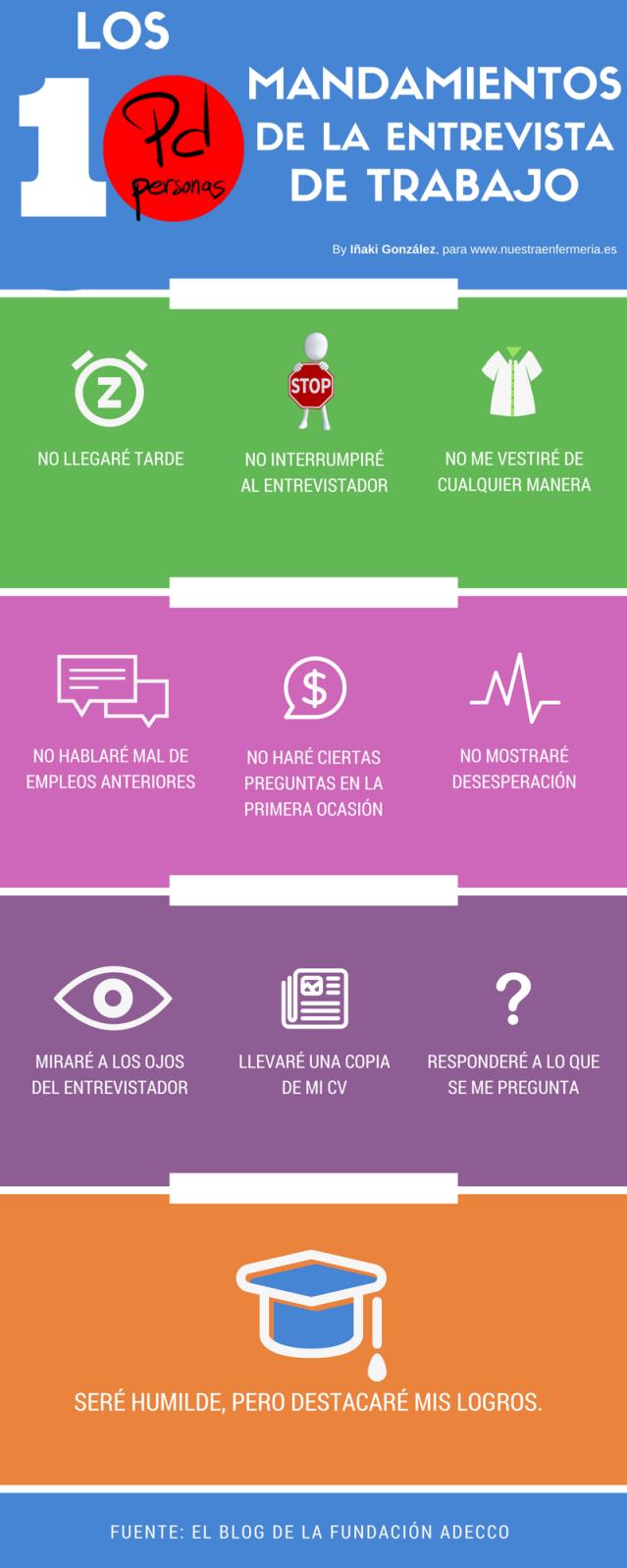Los 10 mandamientos de la entrevista de trabajo. #FanzinEnfermería ...