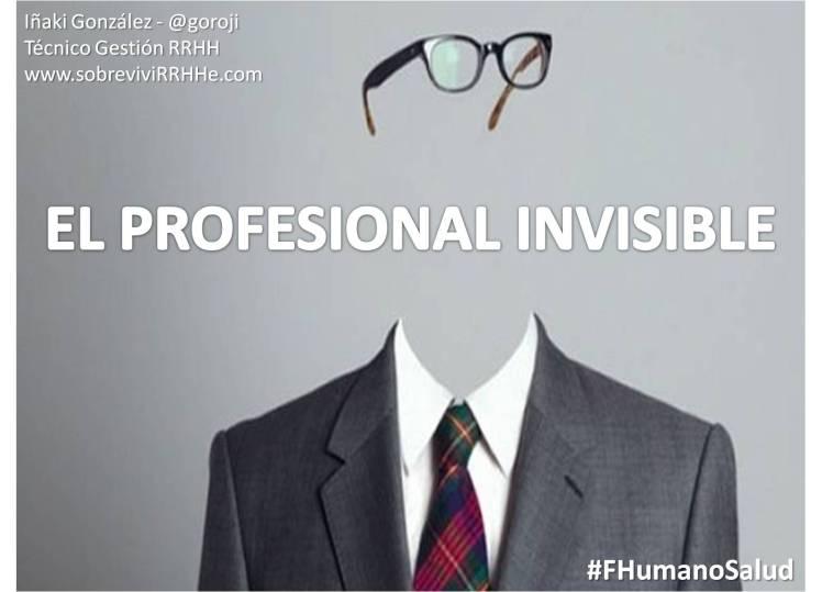 El profesional invisible (portada)